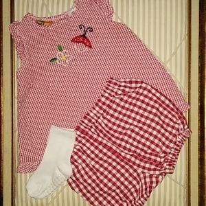 Other - Baby girl 18M top, panties, & socks